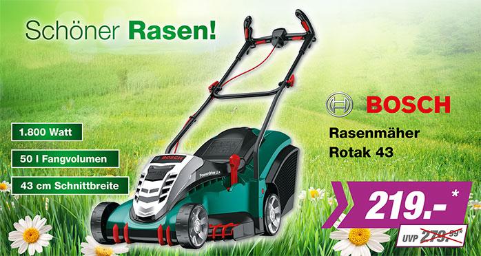 Rasenmäher Bosch Rotak 43